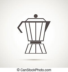 Coffee design. coffeepot icon