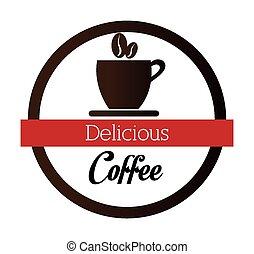 Coffee design. - Coffee design over white background, vector...