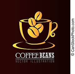 Coffee design over brown background vector illustration -...