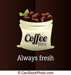 Coffee design over brown background vector illustration -...