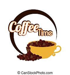 Coffee design over white background vector illustration -...