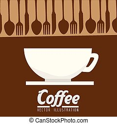 Coffee design, vector illustration. - Coffee design over...