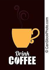 Coffee design, vector illustration. - Coffee design over...