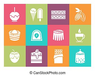 Coffee, desserts and chocolate icons