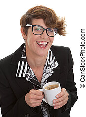 coffee., donna, affari casuali