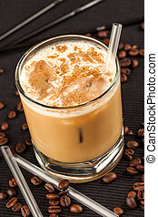Coffee drink on a black background