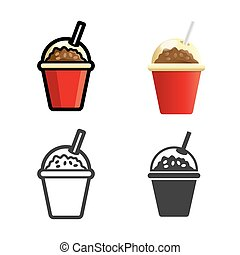 Coffee drink vector colored icon set