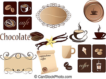 coffee elements - Coffee Elements set for design.