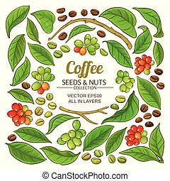 coffee elements vector set on white background