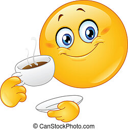 Coffee emoticon - Emoticon drinking coffee