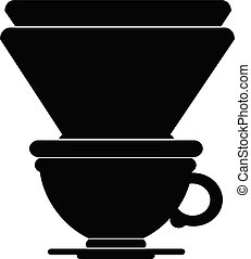 Coffee filter - vector icon illustration of a filter coffee...