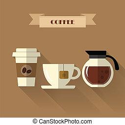 Coffee flat design