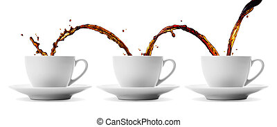 coffee flowing - pouring coffee showing concepts of...