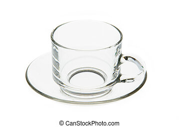Coffee glass isolated on a white background