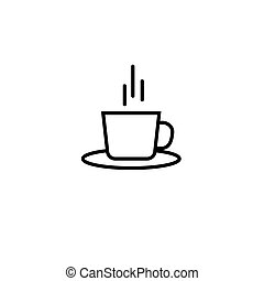 Coffee glass sign icon. Vector.Drinks on the plane. Isolated...