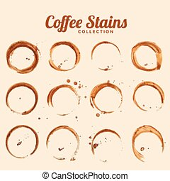 coffee glass stain texture set of twelve