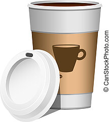 Coffee go on, over white. EPS 10, AI, JPEG