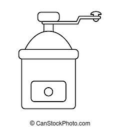 coffee grinder manual image outline