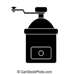coffee grinder manual pictogram