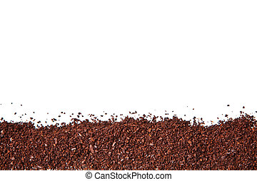 coffee grounds isolated on a white background