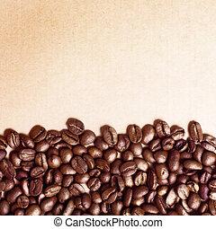 Coffee grunge beans