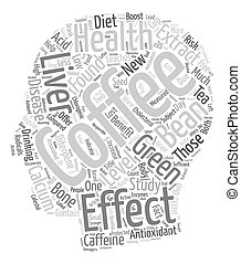 Coffee Health New Antioxidant On The Block text background wordcloud concept