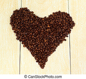 Coffee heart of flame of love.