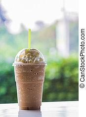 coffee., helado