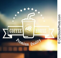Coffee house label concept