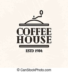 Coffee house logo line style isolated on white background for cafe, restaurant, shop, market