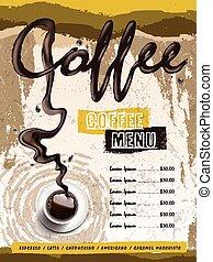 coffee house menu design
