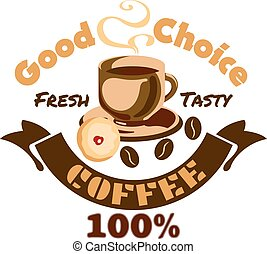 Coffee icon. Cafe advertising signboard