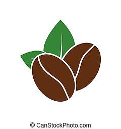 coffee icon. coffee bean - vector sign