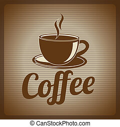 coffee design over lineal background vector illustration