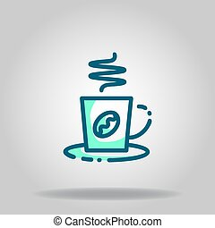 coffee icon or logo in  twotone - Logo or symbol of coffee ...