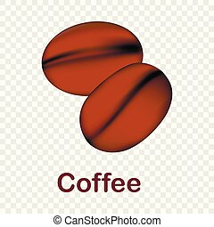 Coffee icon, realistic style
