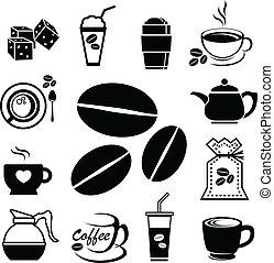 coffee icon set 01