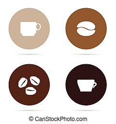 coffee icon set illustration