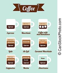 coffee icons over blue background vector illustration