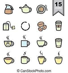 Coffee icons set