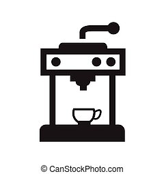 Coffee Icons with White Background