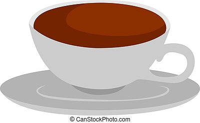Coffee, illustration, vector on white background.