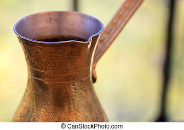 Coffee in Brass Pot