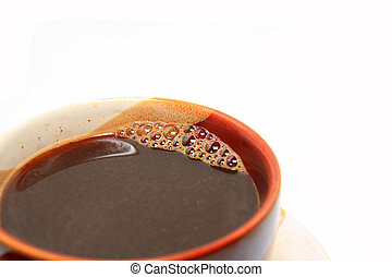coffee in cup on white background