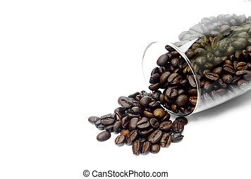 coffee in glass isolated on white background