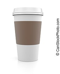 Coffee in thermo cup.  Take-out coffee