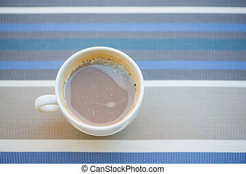 Coffee in white cup