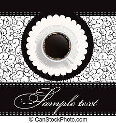 coffee invitation background