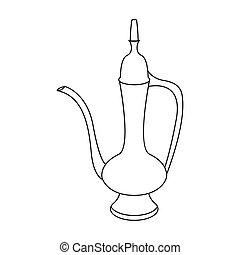 Jug and coffee pot arabic -vector illustration.