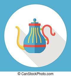coffee kettle flat icon